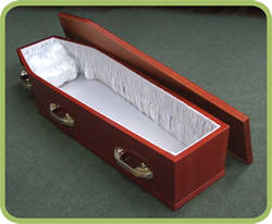 Leaving Lightly cardboard coffin